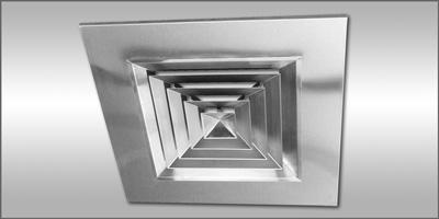 Anemostat Model D Stainless Steel Directional Diffusers