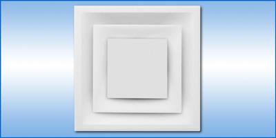 Anemostat Z Square 3 Cone Architectural Diffuser