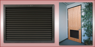 NOTE: For Exterior use High Humidity or Salt Air Application product must be Galvanized or Stainless Steel. & Anemostat: Door Grilles / Louvers Pezcame.Com